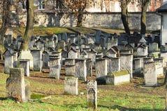 Oude Joodse Begraafplaats, Remuh-Synagoge, Krakau royalty-vrije stock foto's