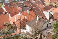 Oude Joodse stad Trebic Stock Afbeelding