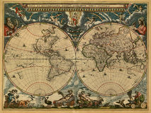 Oude kaart stock afbeelding