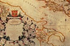 Oude kaart Stock Foto