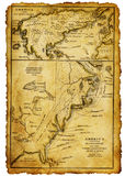 Oude kaart royalty-vrije stock afbeelding