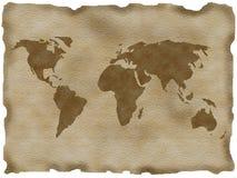 Oude kaart Royalty-vrije Illustratie