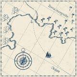 Oude kaart Royalty-vrije Stock Afbeeldingen
