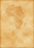 Oude kaart van Afrika Royalty-vrije Stock Foto's