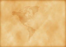 Oude kaart van Amerika Royalty-vrije Stock Afbeeldingen