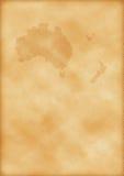 Oude kaart van Australië en Nieuw Zeeland Royalty-vrije Stock Afbeeldingen