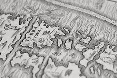 Oude kaart van de nieuwe wereld Royalty-vrije Stock Afbeelding