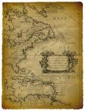 Oude Kaart van de Oostelijke Kust van de V.S. stock illustratie