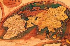 Oude kaart van de wereld Stock Afbeelding
