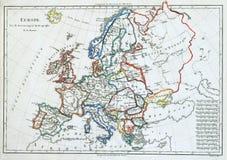 Oude kaart van Europa, Stock Foto's