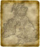 Oude Kaart van Groot-Brittannië stock illustratie