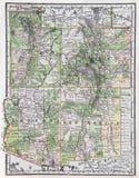 Oude Kaart van het Zuidwesten van de V.S. Royalty-vrije Stock Foto