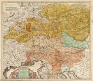Oude kaart van Midden-Europa royalty-vrije stock afbeelding