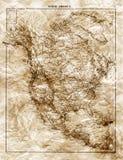 Oude kaart van Noord-Amerika stock fotografie