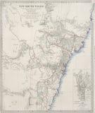 Oude kaart van Sydney, NSW, Australië Royalty-vrije Stock Fotografie