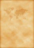 Oude kaart van wereld Stock Foto's
