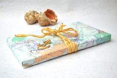 Oude kaarten met shells Stock Afbeeldingen