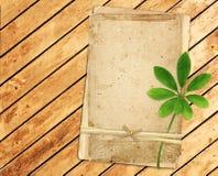 Oude kaarten op houten planken Stock Afbeeldingen