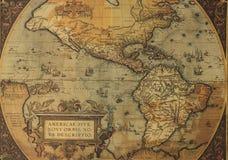 Oude kaarten van het Noorden en Zuid-Amerika Stock Afbeelding