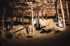 Oude kamer in een Zilveren Mijn, Bloederige Tarnowskie, Unesco-erfenisplaats Stock Foto's