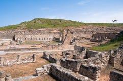 Oude Kamiros in het eiland van Rhodos Stock Afbeeldingen