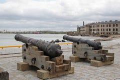 Oude kanonnen stock foto's