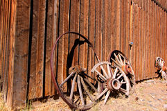 Oude karretjewielen royalty-vrije stock foto