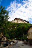 Oude kasteel en stad Royalty-vrije Stock Foto's