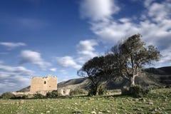 Oude kasteel-vesting van Los Alumbres in Rodalquilar, Spanje Stock Afbeeldingen