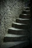 Oude kasteelstappen Royalty-vrije Stock Foto's