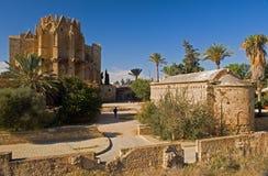Oude kathedraal in famagusta, noordelijk Cyprus. Stock Afbeeldingen