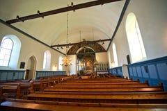 Oude katholieke kerk in Noorwegen Stock Afbeelding