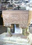 Oude Keltische doopdoopvont Stock Foto