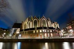 Oude Kerk (老教会) (阿姆斯特丹) 库存图片