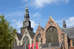 Oude Kerk in Amsterdam Royalty Free Stock Photography