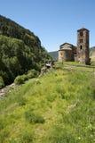 Oude kerk in Andorra royalty-vrije stock afbeelding