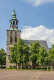 Oude kerk bij het marktvierkant in Nordhorn Stock Fotografie