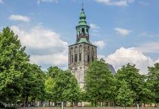 Oude kerk bij het marktvierkant in Nordhorn Royalty-vrije Stock Afbeelding