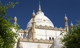 Oude kerk in Carthago royalty-vrije stock foto
