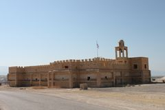 Oude Kerk in de Doopplaats van Qasr Gr Yahud, Israël Royalty-vrije Stock Foto
