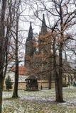 Oude kerk in de hogere stad, Praag, Tsjechische Republiek royalty-vrije stock afbeelding