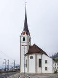 Oude Kerk in de stad van Fluelen Royalty-vrije Stock Afbeeldingen