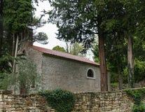 Oude kerk dicht bij Teer, Istria, Kroatië stock fotografie