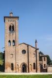 Oude kerk dichtbij Felonica Royalty-vrije Stock Foto