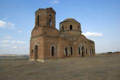 Oude kerk die tijdens Wo wordt vernietigd. Rostov-op-trek, Rus aan Royalty-vrije Stock Afbeelding