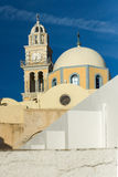 Oude kerk in Fira, Santorini-eiland, Thira, Griekenland Royalty-vrije Stock Foto
