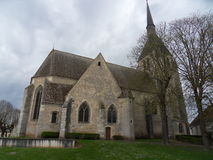 Oude kerk in Frankrijk Stock Foto