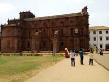 Oude kerk in Goa royalty-vrije stock foto's