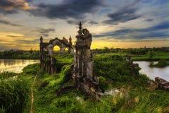 Oude kerk in Hai Hau-strand Royalty-vrije Stock Foto's