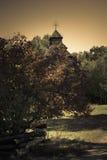 Oude kerk in het hout Stock Afbeelding